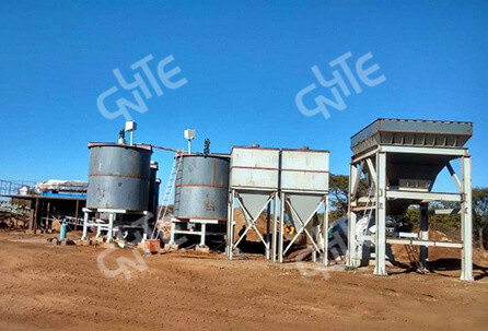 100t/d Gold All-sliming Cyanidation CIP Plant in Ghana