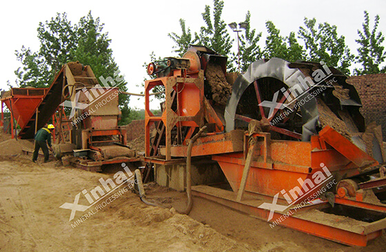 waching machine used for removing the slime from gold sand